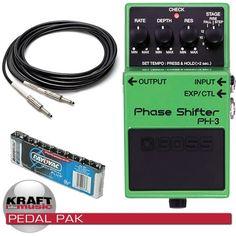 Boss PH-3 Phase Shifter Guitar Pedal PEDAL PAK | KraftMUSIC.com
