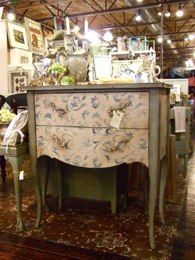 dresser with stenciled front