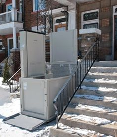 Savaria Multilift Vertical Platform Wheelchair Lift is perfect for accessing porches or decks even in inclement weather.