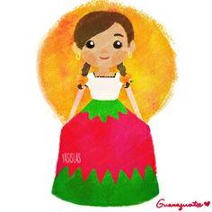 Trajes típicos de México by Yasmin Islas - Guanajuato