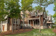 Lake Martin residence, AL. Architect Bobby McAlpine. Designer Susan Ferrier. Emily Jenkins Followill photo in Traditional Home.