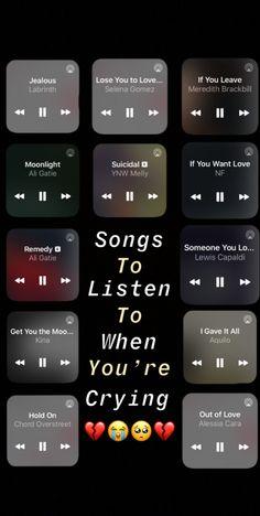 Heartbreak Songs, Breakup Songs, Music Mood, Mood Songs, Playlist Names Ideas, Beste Songs, Depressing Songs, Throwback Songs, Music Recommendations
