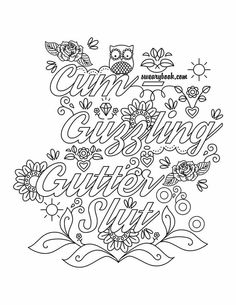 Swear Words Coloring Pages Adult Sketch Page