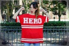 La vie en Rouge : HERO t-shirt! White Keds, T Shirt, Hero, Sports, Tops, Fashion, Supreme T Shirt, Hs Sports, Moda