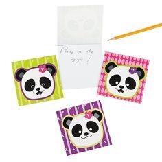 Panda Party Notepads - OrientalTrading.com