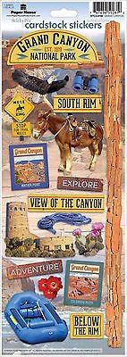 Paper House GRAND CANYON Cardstock Stickers scrapbooking RIM rafting MULE