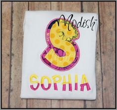 Girly Initial Custom Personalized Appliqued by SoModish on Etsy.