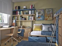 Stunning Small Kids Bedroom Ideas with exciting small: Great Bedroom Designs For. Stunning Small Kids Bedroom Ideas with exciting small: Great Bedroom Designs For Small Rooms Cool Kids Room Designs Idea. Small Bedroom Interior, Small Bedroom Designs, Small Room Bedroom, Small Rooms, Kids Bedroom, Small Spaces, Bedroom Office, Spare Room, Narrow Bedroom