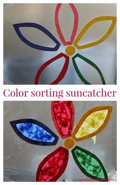 A color sorting activity idea for toddlers!