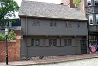 Paul Revere and his family lived in this house for 30 years.  It is now a museum and the oldest building in downtown Boston built around 1680.