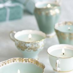 DIY Candle in a Tea Cup {Gift}: antique china tea cup candles