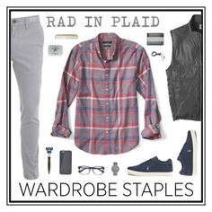"""rad."" by tothineownselfbtrue ❤ liked on Polyvore featuring Banana Republic, Skagen, FOSSIL, êShave, Men's Society, Rip Curl, men's fashion, menswear, plaid and WardrobeStaples"