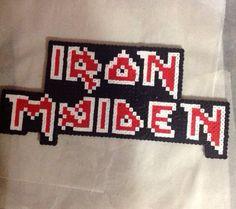 Iron Maiden Perler Bead Logo on Etsy, $18.00