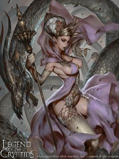 Alyssa ,  by Lee Chak Khuen ,  Card illustration ,  (Interjecting) Alisa, Dragon Witch , Lore http://legendofthecryptids.wikia.com/wiki/(Interjecting)_Alisa,_Dragon_Witch