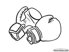 free boxing gloves printable and online coloring page