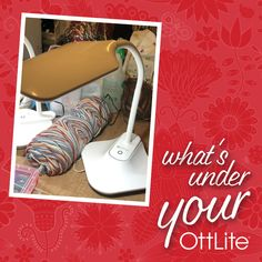 """""""I have to say, this was one of my best spur of the moment purchases! So much that I went back and got another the next day, and a tall one a week later! Love my - What's under your OttLite? Tag us for a chance to be featured on our Wednesday! Light Crafts, Desk Light, Photo Craft, Floor Lamp, Wednesday, I Am Awesome, Quilt, The Incredibles, In This Moment"""