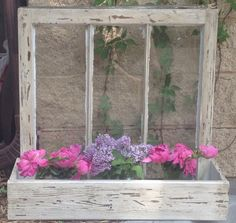 Old window frame planter