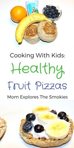 This healthy fruit pizza recipe is the perfect kids cooking activity for breakfast, lunch, dinner, or snack.