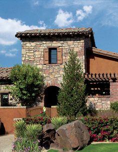Escala Rancho Mirage Featuring Villa Stone Combination - Coronado Stone Products - Mediterranean - Exterior - Los Angeles - Coronado Stone P...