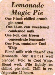 Southern recipes, decorating, Southern and New England living summer recipes summer recipes abendessen rezepte recipes recipes dessert recipes dinner Retro Recipes, Old Recipes, Lemon Recipes, Vintage Recipes, Summer Recipes, Baking Recipes, Holiday Recipes, Recipies, Healthy Recipes
