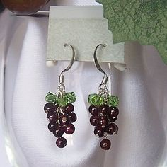 Cute earrings for yourself, or as a gift for the wine lover in your life: Grape Earrings