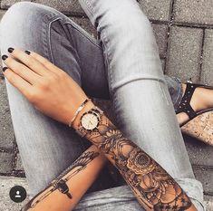 Her sleeve