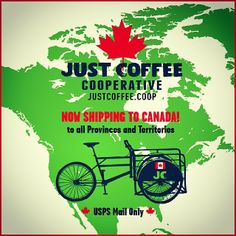It finally happened... All your favorite coffees are now shipping to Canada. Bike Fuel, WTF Blend, Smoffee, Wayne Foundation, Revolution Roast and more: shop.justcoffee.coop