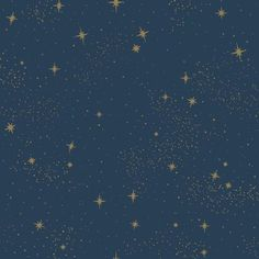 RoomMates Upon A Star Navy Vinyl Peel & Stick Wallpaper Roll (Covers 28.18 Sq. Ft.), Blue