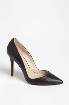 These are a good basic inexpensive pointy-toe shoe. The lower cut on the side makes them sexier. Charles by Charles David 'Pact' Pump