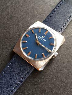 Junghans Blue Dial Vintage German Made Mens Watch Watches For Men, German, Bronze, Blue, Ebay, Accessories, Vintage, Deutsch, Men's Watches