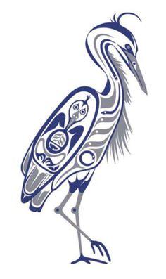 Native American Luck Symbols | Heron (500 x 843)