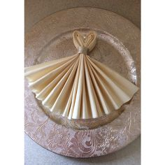 Wedding dress napkins