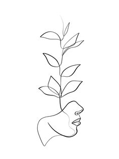 One With the Wild - minimal line drawing Art Print by WithOneLine - X-Small wall painting ideas diy Minimal Drawings, Art Drawings Sketches, Easy Drawings, Line Drawings, Cute Small Drawings, Line Drawing Tattoos, Sharpie Drawings, Dress Sketches, Minimalist Drawing