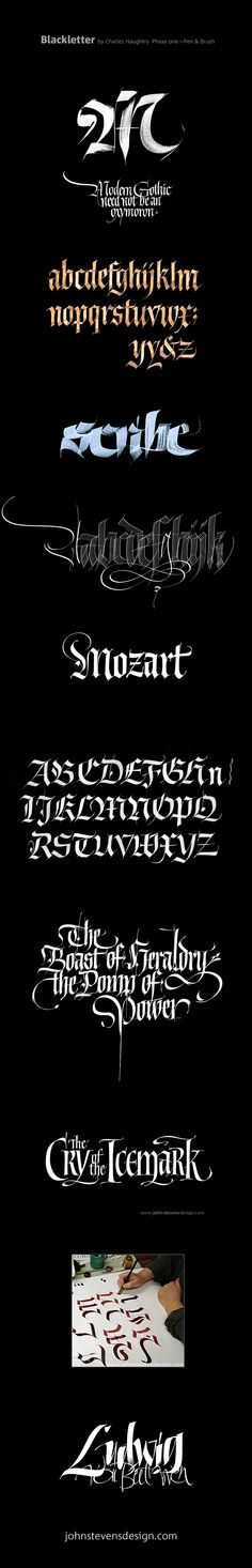 The addition of Blackletter; aka, Old English, Gothic…
