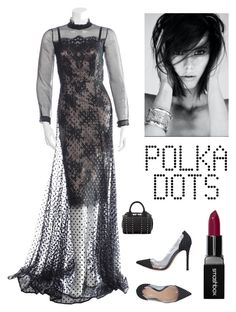 """Trendy in Polka Dots"" by kotnourka ❤ liked on Polyvore featuring Erdem, Gianvito Rossi, Alexander Wang and Smashbox"