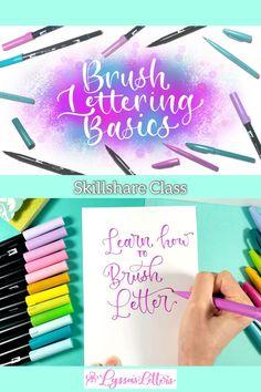 Brush Pen Calligraphy, Calligraphy Video, Learn Calligraphy, Calligraphy Alphabet, Brush Lettering, Creative Lettering, Lettering Design, Best Brush Pens, Travel Brochure Design
