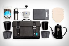Just because you're on the road doesn't mean you can't have a great cup of coffee every morning. The Blue Bottle x Timbuk2 Sabbatical Travel Kit packs everything you need to brew terrific coffee in a single, stylish bag. Included...