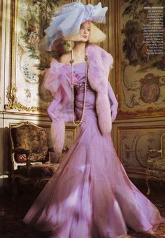 US Vogue styled by Grace Coddington