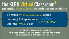 Join KLRN for a Chat & Learn session for students in the KLRN Virtual Classroom Series - now happening twice a day during #ThinkWednesdays!