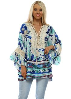 Stylish designer blue tops available online now at Designer Desirables. Browse all Port Boutque tops delivered Free & free returns Going Out Tops, Cotton Crochet, Blue Tops, Fitness Fashion, Floral Tops, Skinny Jeans, Tie, Boutique, Women