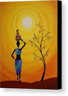 Tribal Lady Acrylic Print featuring the painting Tribal Art by Kalyani Zodey Abstract Art Painting, Indian Art Paintings, Art Drawings, Amazing Art Painting, Painting Art Projects, African Art Paintings, Tribal Art Drawings, Canvas Art Painting, Africa Art