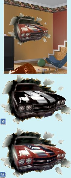 For the car crazy little boy: 1970 Chevelle SS-396 Peel and Stick Wall Mural