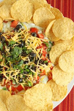 9-Layer Bean Dip from favfamilyrecipes.com #beandip #recipes #appetizer