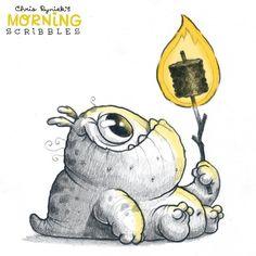 Chris Ryniak - morning scribbles - cute and funny art