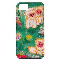Little Lamb Playing in the Flowers iPhone 5/5S Cover by artist Marie-Jose Pappas of Innocent Originals