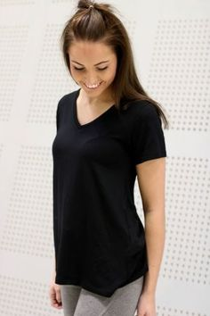 Mbym - Marcel Basic V-neck Black Basic Tops, Marcel, Black Tops, V Neck, Women, Fashion, Moda, Women's, La Mode