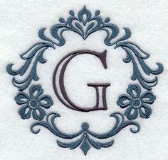 Damask Letter G