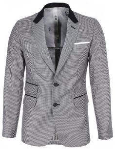 FLATSEVEN Mens Designer Slim Houndstooth Check Black Collar Blazer Jacket (BJ439) Boys L FLATSEVEN http://www.amazon.com/dp/B00K77QOAQ/ref=cm_sw_r_pi_dp_dDg2ub0W2TFVS #FLATSEVEN #Fashion #men #Slim #Houndstooth #Blazer #Jacket Check