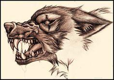 Snarling Wolf by ~bluesharingan07 on deviantART