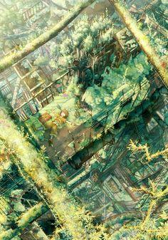 「新緑廃工場」/「たみ。」のイラスト [pixiv]